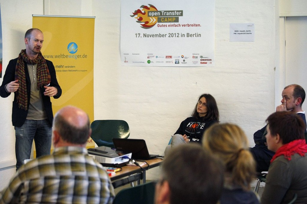 Axel Halling auf dem openTransfer CAMP 2012 in Berlin