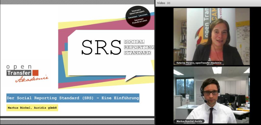 Katarina_Peranic und Markus Buechel beim SRS Webinar