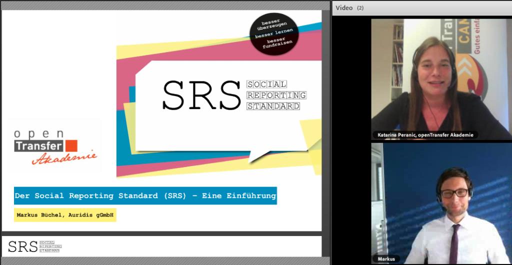 Katarina_Peranic und Markus Buechel beim SRS Webinar II