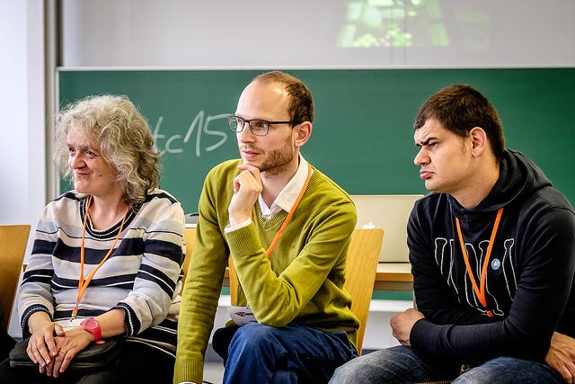 3 Mitglieder des PIKSL-Teams während der Session