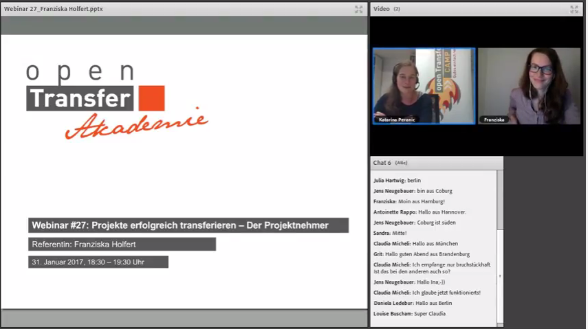 openTransfer Webinar mit Franziska Holfert