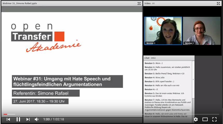 Vorschau auf das openTransfer Webinar mit Simone Rafael