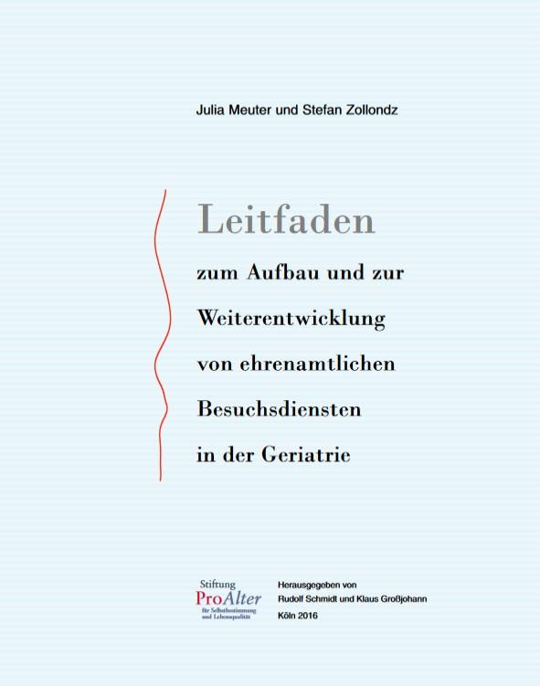Deckblatt Leitfaden_Aufbau ehrenamtliche Besuchsdienste in der Geriatrie